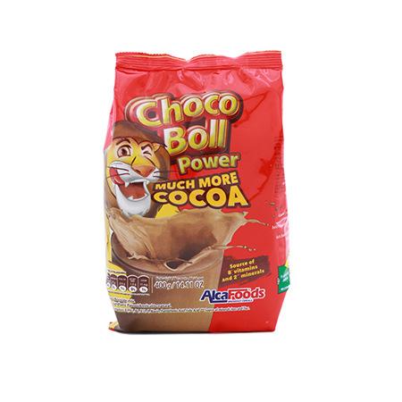Imagen de Bebida De Chocolate Choco Boll Power AlcaFoods 400 Gr.