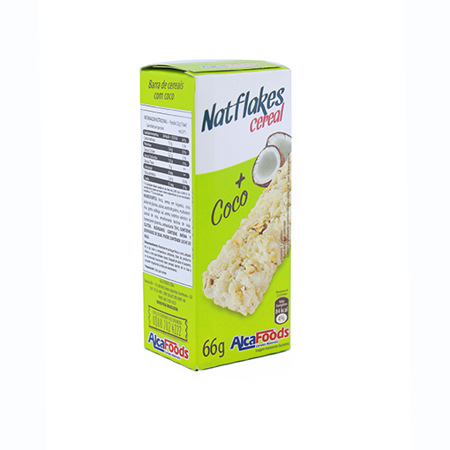 Imagen de Barra De Cereal Con Coco AlcaFoods 66 Gr.
